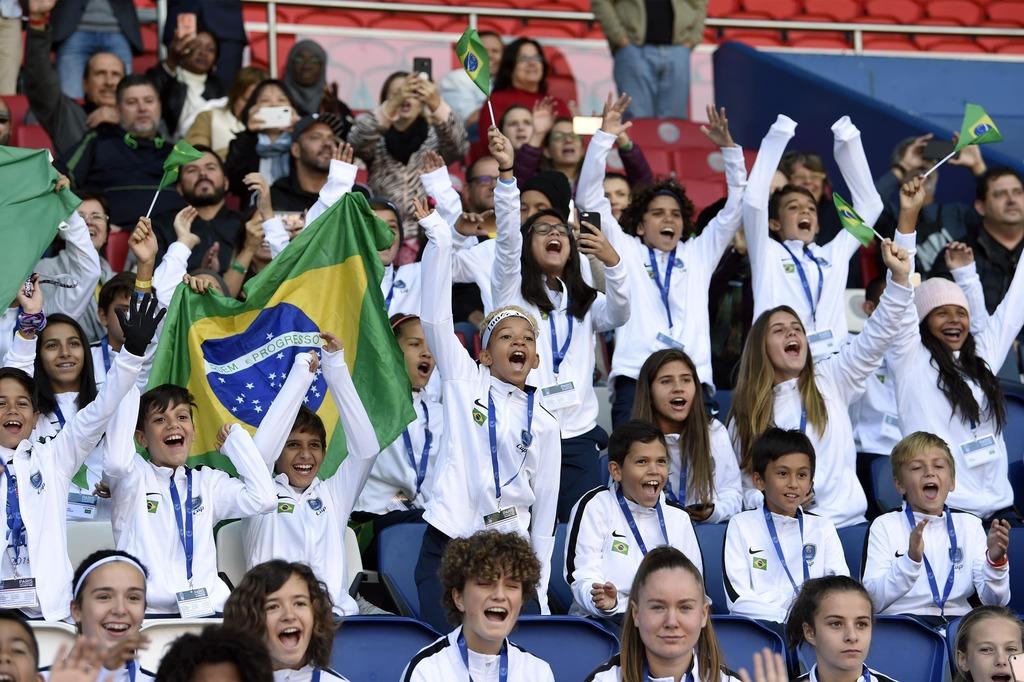 PSG Academy World Cup das viertägige Turnier in Frankreich bei einem Spiel der Profis