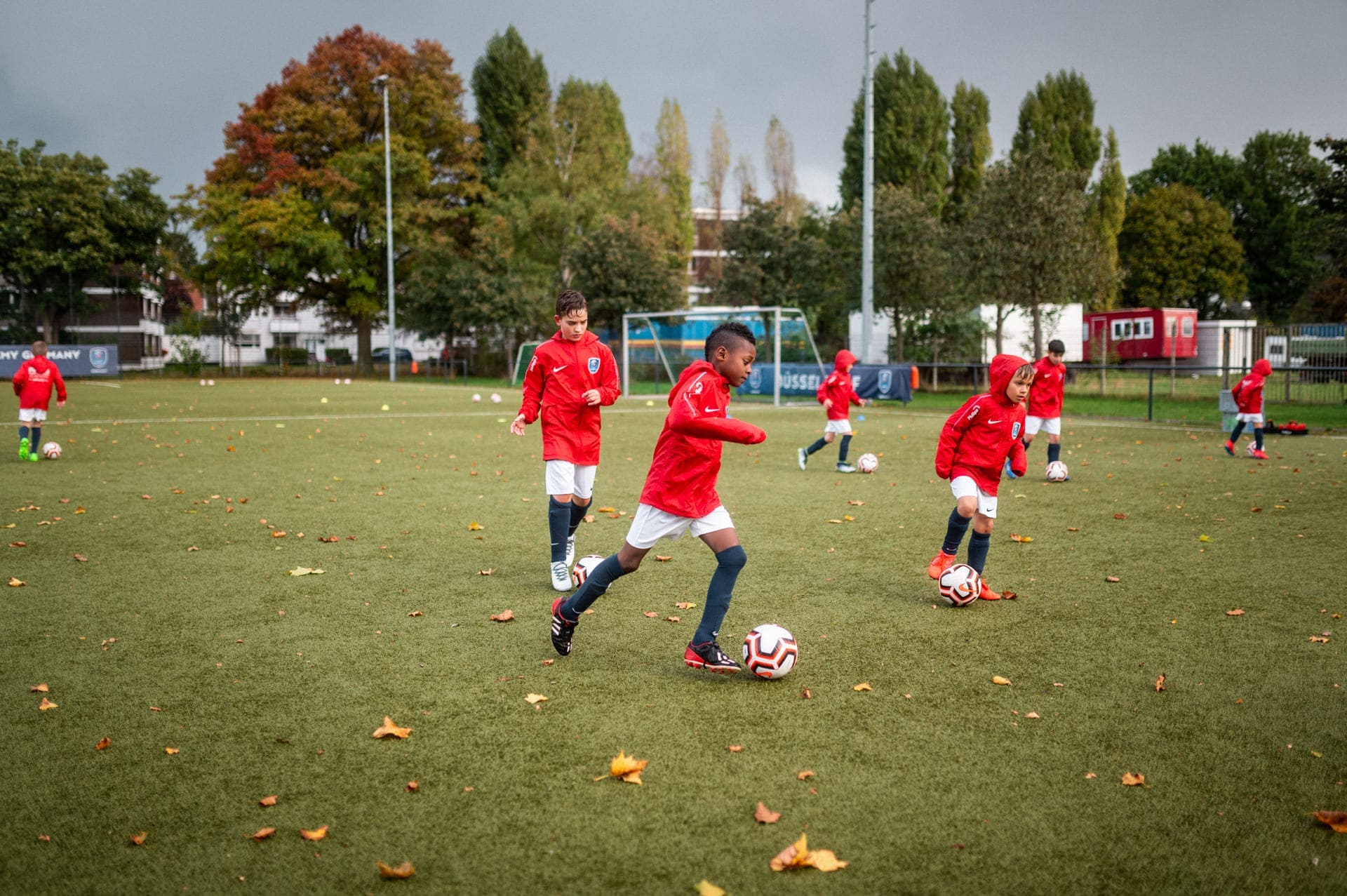 PSG Academy Germany Trainingseinheit im Regen training session in the rain