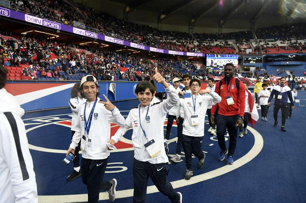 PSG Academy World Cup das viertägige Turnier im Parc des Princes mit Abschlusszeremonie